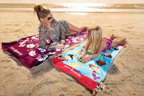 TowelMate Keeps Your Goods Safely Stowed on the Beach
