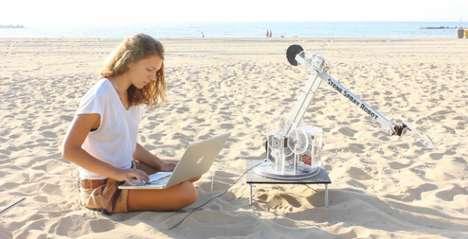 3D Sand-Spraying Droids