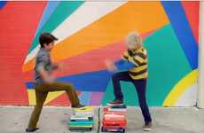 Playful Painting Kiddie Campaigns - GapKids 'Shine On' Advertisement Features Talented Children
