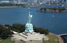 Dissolving Statue Films - The Melting Statue of Liberty Hits Home with Global Warming Concerns