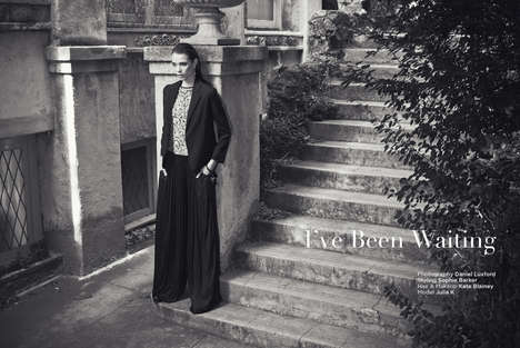 Backyard Pantsuit Pictorials - I Have Been Waiting by Daniel Luxford is a Chic Monochromatic Series