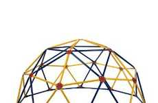 Portable Jungle Gyms - The Easy Outdoor Geodescent Space Dome is Fun for Your Kids