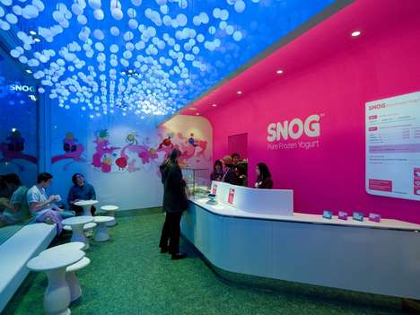 Suspended Sphere Shops - The Cinimod Studio SNOG Store is Playful and Childlike
