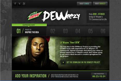 Crowdsourced Rapper Projects - Mountain Dew & Lil Wayne DEWeezy Campaign Asks Fans for Inspiration