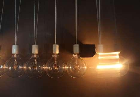 Swinging Lightbulb Installations