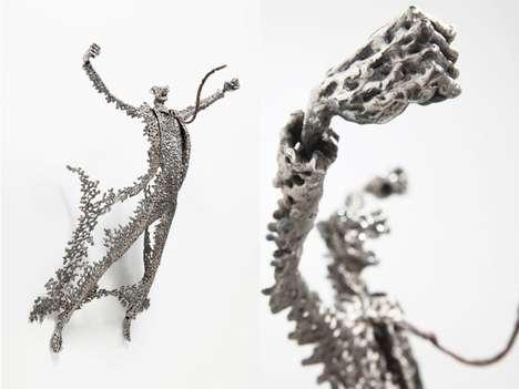 Tormented Steel Sculptures