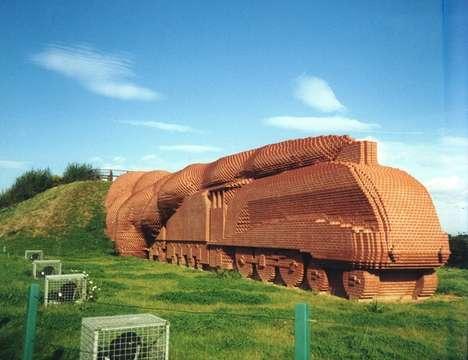 Brick Locomotive Sculptures