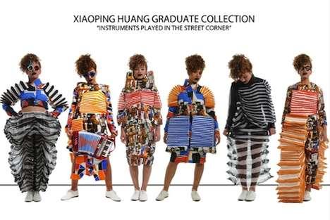 Quirky Accordion-Like Fashion