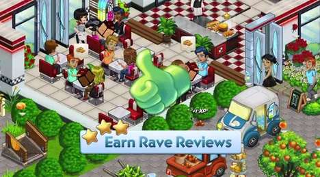 Social Cooking Simulation Games - Zynga's ChefVille Lets Users Create Restaurants & Earn Recipes