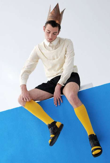 Playfully Crowned Menswear