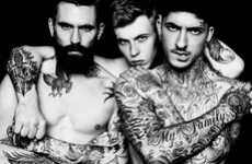 Badass Body Art Editorials - The Glorious Bastards Papercut Magazine Editorial is Heavily Inked