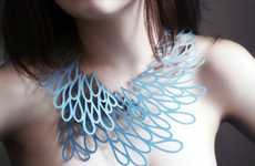 Patterned Paper Necklaces