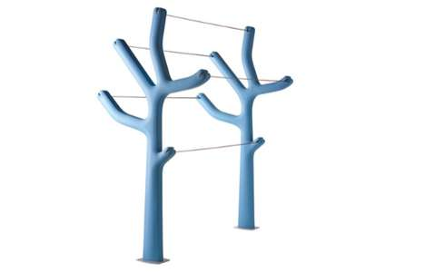 Tree-Like Laundry Racks