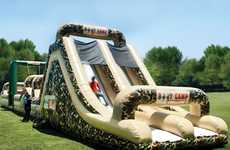 Combat-Colored Bouncy Castles - The Inflatable Military Obstacle Course Will Keep You Fit
