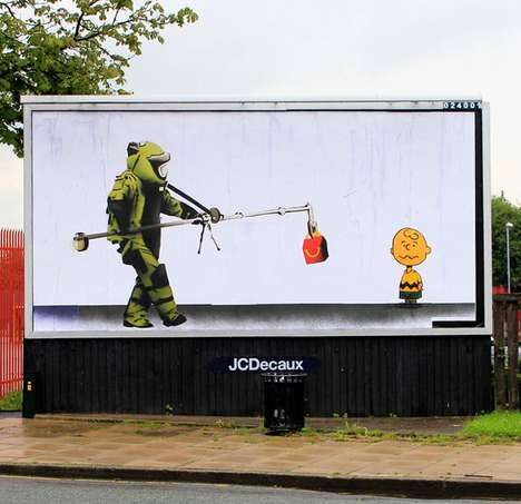 Anti-Advertising Street Art - The 'Brandalism' Billboards Reclaim UK Outdoor Areas