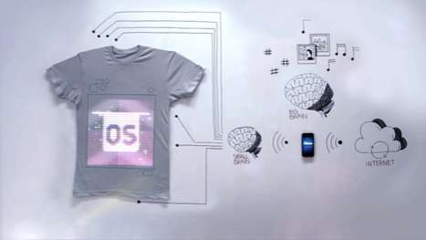 Programmable Hi-Tech Tees - TshirtOS Offers Users a Wearable and Interactive Digital Display