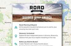 Entertaining Road Travel Apps - Roadtrippers Provides Directions Based on Most Interesting Route