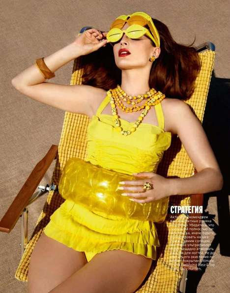 Sunbathing Beauty Editorials