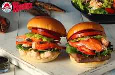 Gourmet Sea-Loving Fast Food - Wendy's Lobster and Caviar Burgers are Introduced in Japan