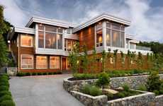 Sprawling Wood-Tiered Homes