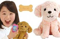 Japanese Talking Toy Puppies - The 'Keitai Wanko' Interactive Puppy Communicates with a Fake Phone