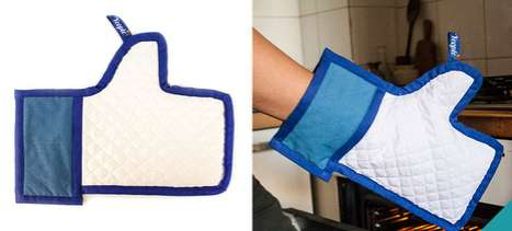 Serve Your Dishes with Approval Using the Facebook Like Oven Mitt