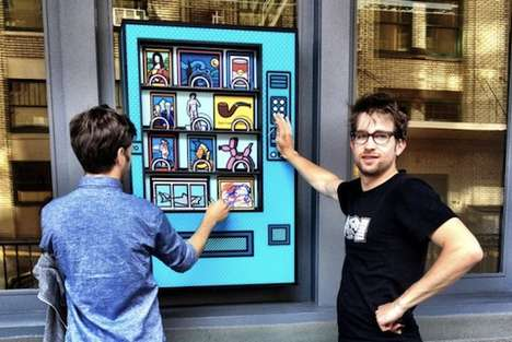 Charitable Artwork Dispensers