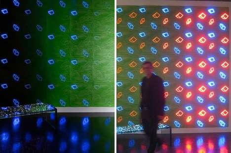 Glowing LED Wallpaper