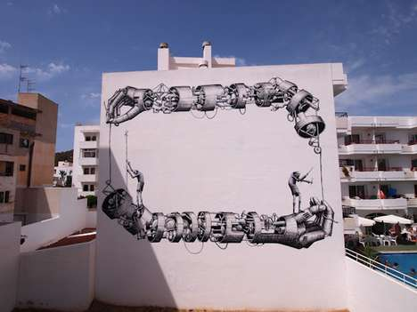 Huge Mechanical Arm Murals