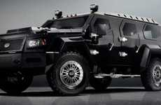 Beastly Geometric Vehicles - The Conquest Evade SUV Offers Luxurious Protection on the Road