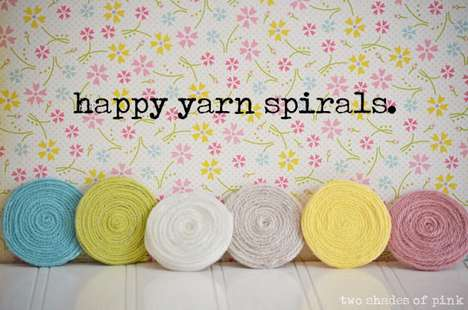 DIY Spiraled Yarn Decorations