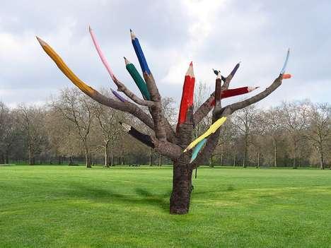 Color Pencil Trees