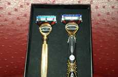 Bejeweled Shaving Tools - Ryan Lochte Receives Diamond Encrusted Razors From Gillette