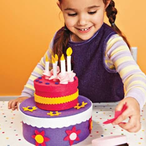 Faux Birthday Cake Toys - The Disney Family Fun Toddler Set is a Fun Do-it-Yourself Project