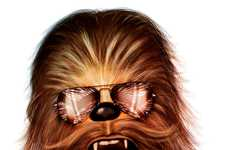 Sci-Fi Aviator Wearers - Tom Brodie-Browne Depicts Star Wars Characters with Stylish Glasses