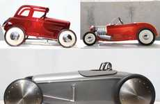 Life-Size Toy Cars - The Hot Rod Pedal Cars for the Ford Deuce Anniversary are Extravagant
