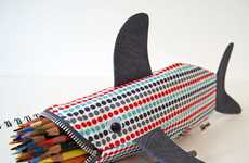 Ferocious Stationery Carriers - This Shark Pencil Case by Minne Bites Devours Writing Tools