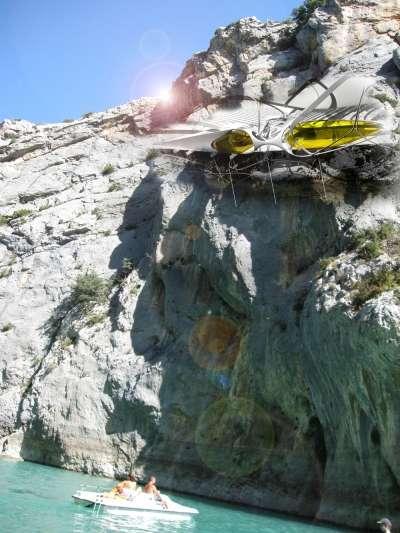 Futuristic Mountain Climber Platforms