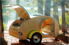 Compact Camper Sleepers - The Teardrop Trailer Allows You to Rough it in Comfort