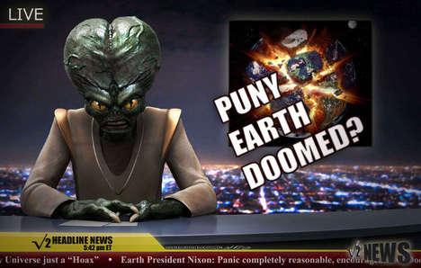 Realistic Cartoon Alien Renderings