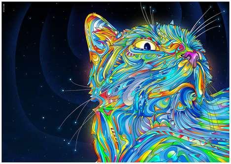 Otherworldly Cat Illustrations