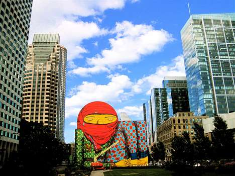 Massive Patterned Cartoon Graffiti