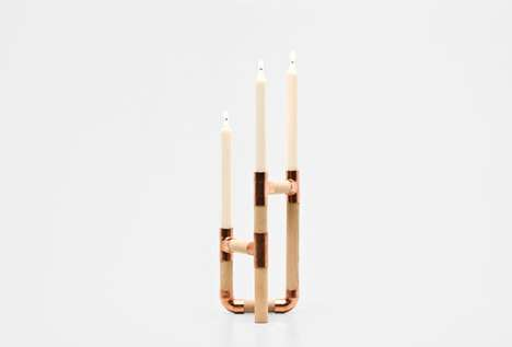 Contemporary Industrial Candle Holders