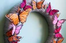 DIY Butterfly Wreaths - The 'A Beautiful Mess' Feather Garland is Easy to Make