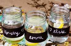 DIY Erasable Storage Labeling - The A Beautiful Mess Chalkboard Paper Project is Handy