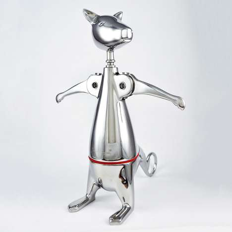Crack Open Your Vino with the Adorable Kangaroo Corkscrew