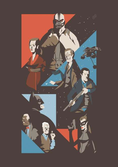 Caped Crusader Trilogy Tributes - Illustrator Florey Renders Christoper Nolan's Batman Series