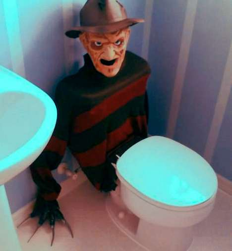 Slasher Flick Bathroom Decor