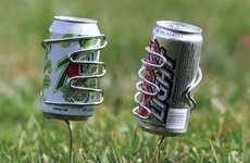 Spiked Steel Cupholders - The Lawn Drink Holders are Great for Outdoor Barbecues and Parties
