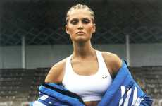 Modern Athletic Editorials - The Toni Garrn for Interview Germany Sweats it Out in Style